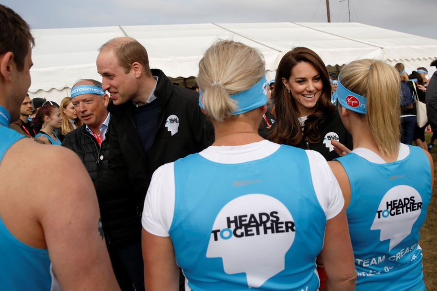 Kate Middleton, Les Princes William Et Harry Au Marathon De Londres, Dimanche 23 Avril 2017 13