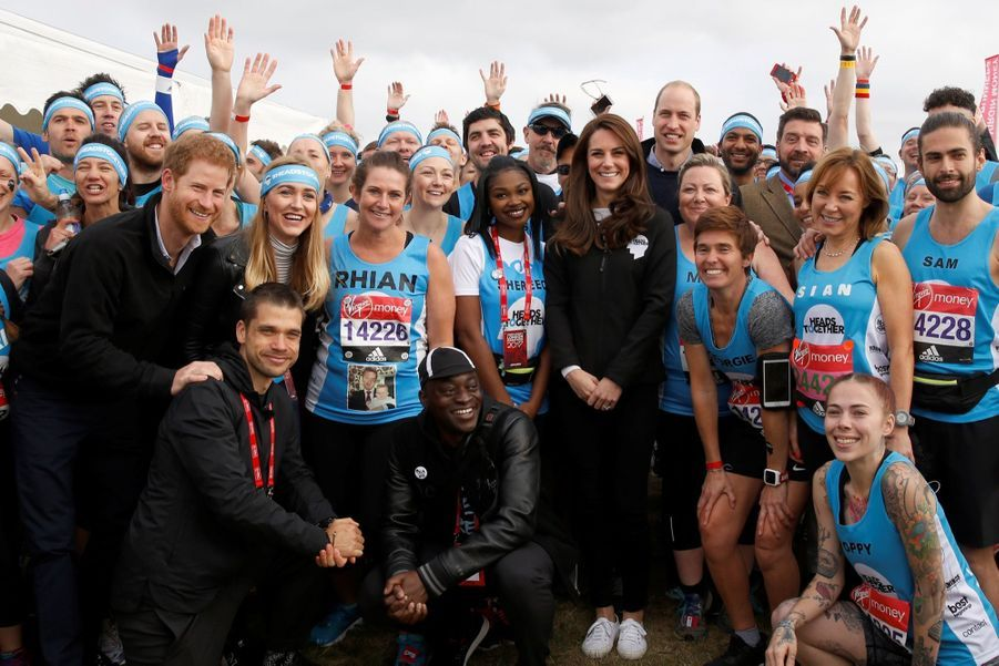 Kate Middleton, Les Princes William Et Harry Au Marathon De Londres, Dimanche 23 Avril 2017 15