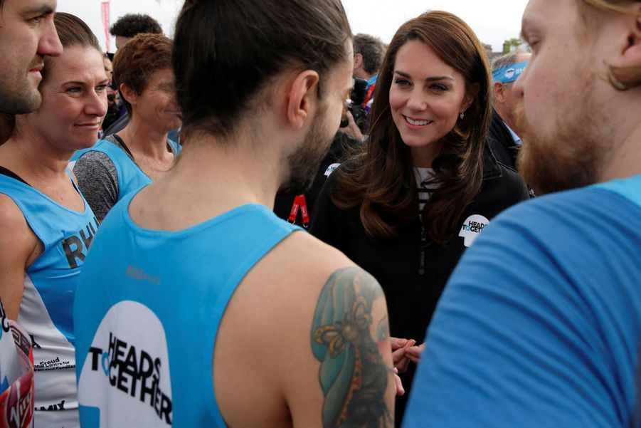 Kate Middleton, Les Princes William Et Harry Au Marathon De Londres, Dimanche 23 Avril 2017 16
