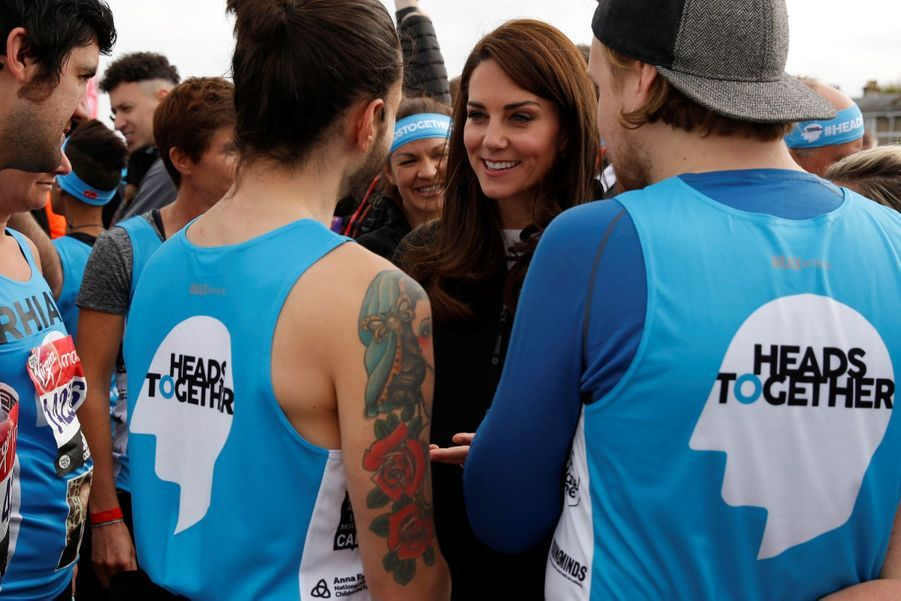 Kate Middleton, Les Princes William Et Harry Au Marathon De Londres, Dimanche 23 Avril 2017 17