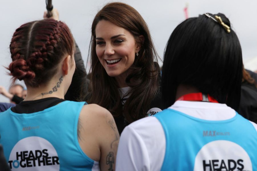Kate Middleton, Les Princes William Et Harry Au Marathon De Londres, Dimanche 23 Avril 2017 18