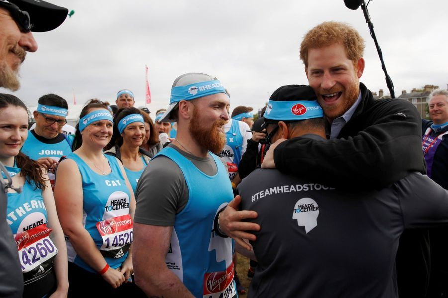 Kate Middleton, Les Princes William Et Harry Au Marathon De Londres, Dimanche 23 Avril 2017 20