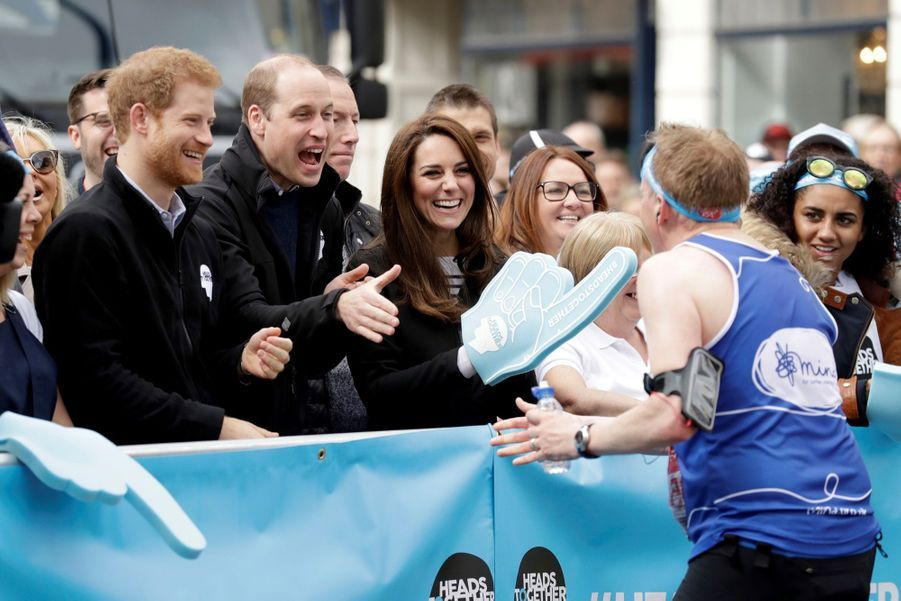 Kate Middleton, Les Princes William Et Harry Au Marathon De Londres, Dimanche 23 Avril 2017 21