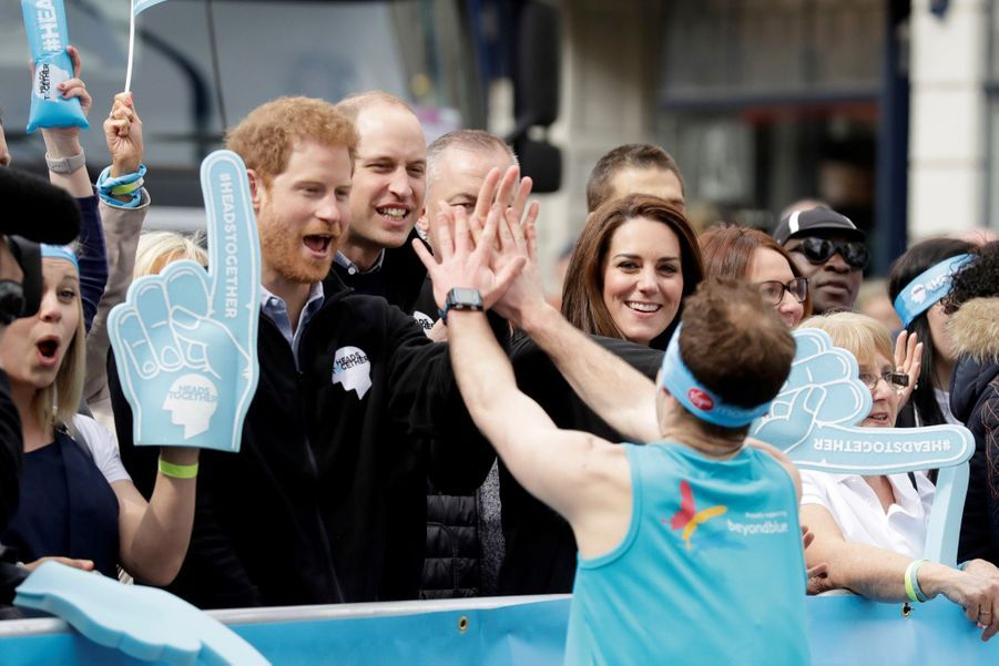 Kate Middleton, Les Princes William Et Harry Au Marathon De Londres, Dimanche 23 Avril 2017 22