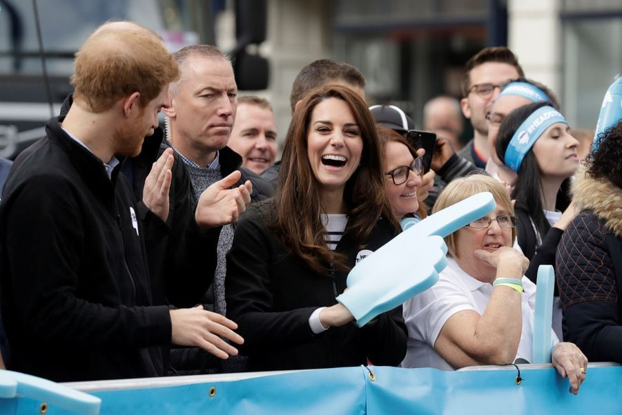 Kate Middleton, Les Princes William Et Harry Au Marathon De Londres, Dimanche 23 Avril 2017 26