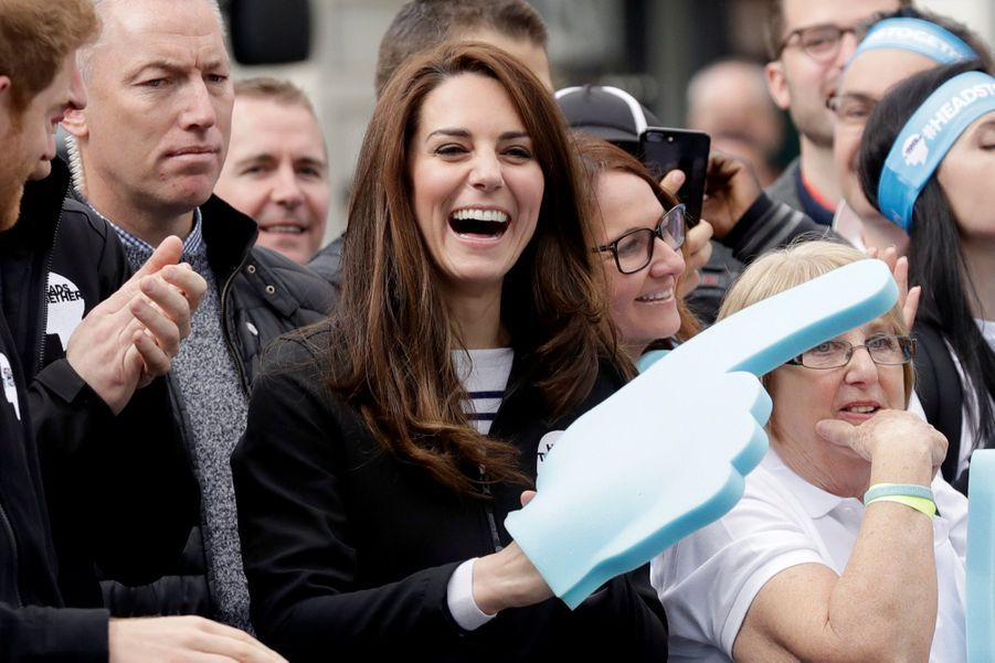 Kate Middleton, Les Princes William Et Harry Au Marathon De Londres, Dimanche 23 Avril 2017 27