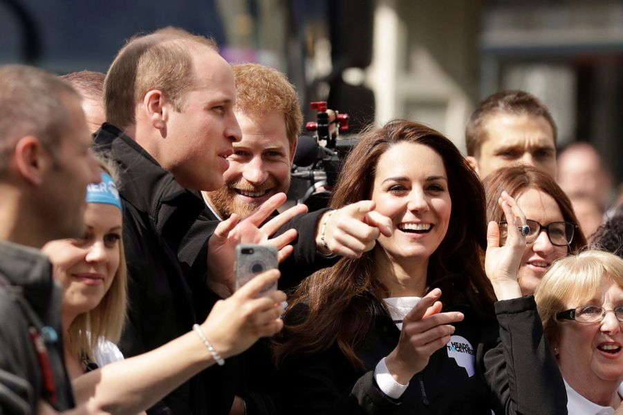 Kate Middleton, Les Princes William Et Harry Au Marathon De Londres, Dimanche 23 Avril 2017 37