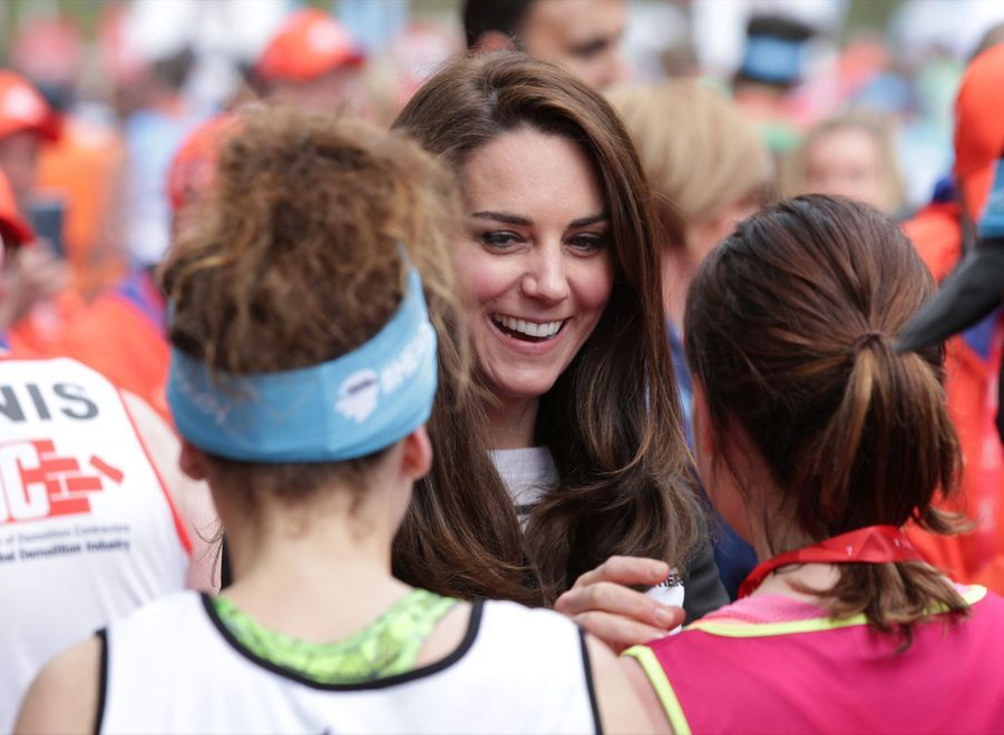 Kate Middleton, Les Princes William Et Harry Au Marathon De Londres, Dimanche 23 Avril 2017 39