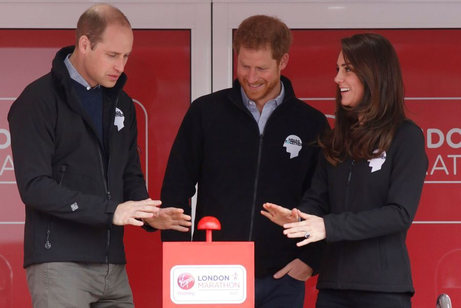 Kate Middleton, Les Princes William Et Harry Au Marathon De Londres, Dimanche 23 Avril 2017 4