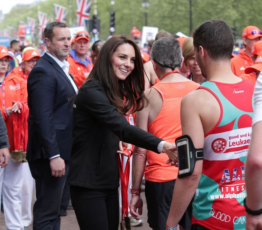 Kate Middleton, Les Princes William Et Harry Au Marathon De Londres, Dimanche 23 Avril 2017 42