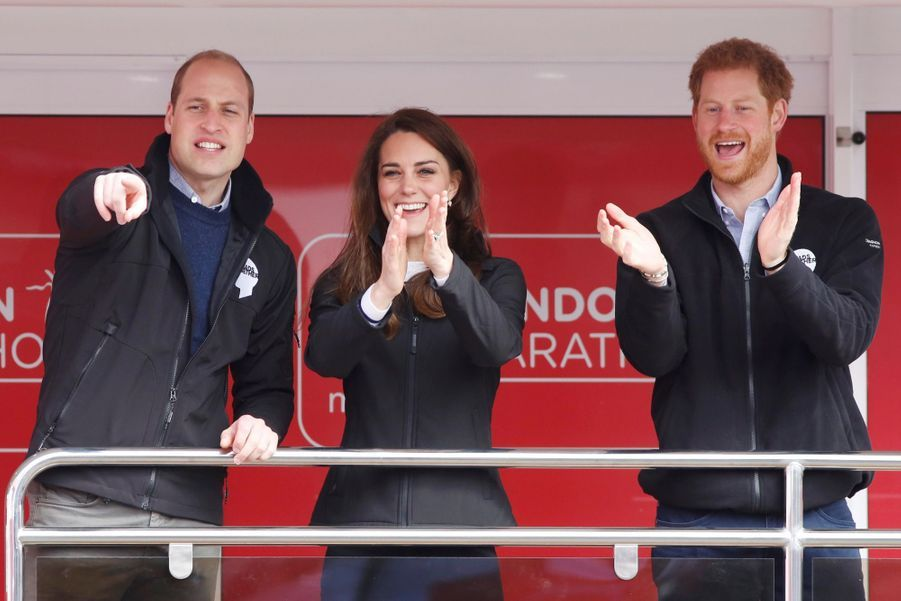 Kate Middleton, Les Princes William Et Harry Au Marathon De Londres, Dimanche 23 Avril 2017 5