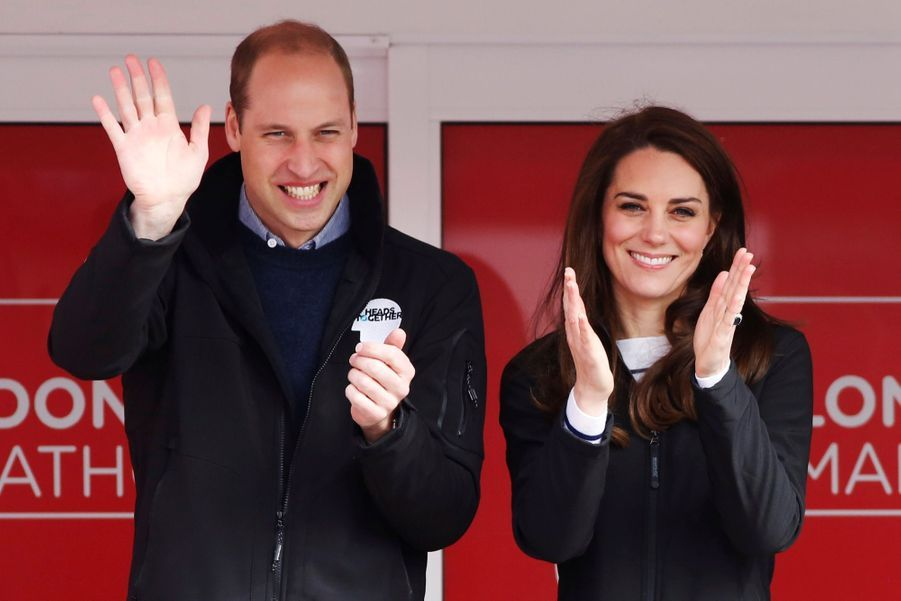 Kate Middleton, Les Princes William Et Harry Au Marathon De Londres, Dimanche 23 Avril 2017 6