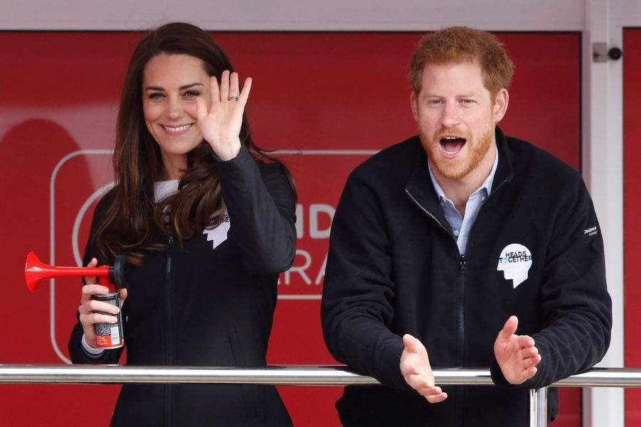 Kate Middleton, Les Princes William Et Harry Au Marathon De Londres, Dimanche 23 Avril 2017 7