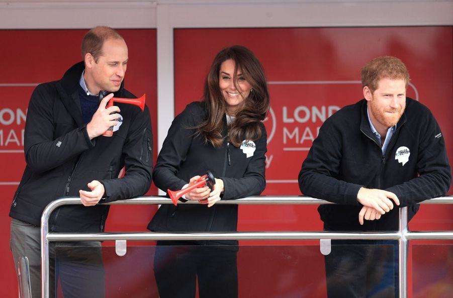 Kate Middleton, Les Princes William Et Harry Au Marathon De Londres, Dimanche 23 Avril 2017 8