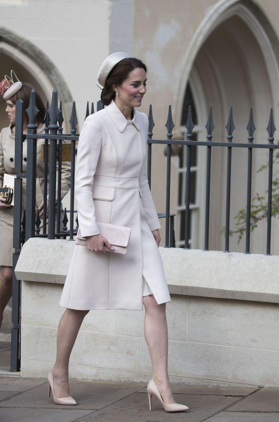 La duchesse de Cambridge, née Kate Middleton, à Windsor, le 16 avril 2017.