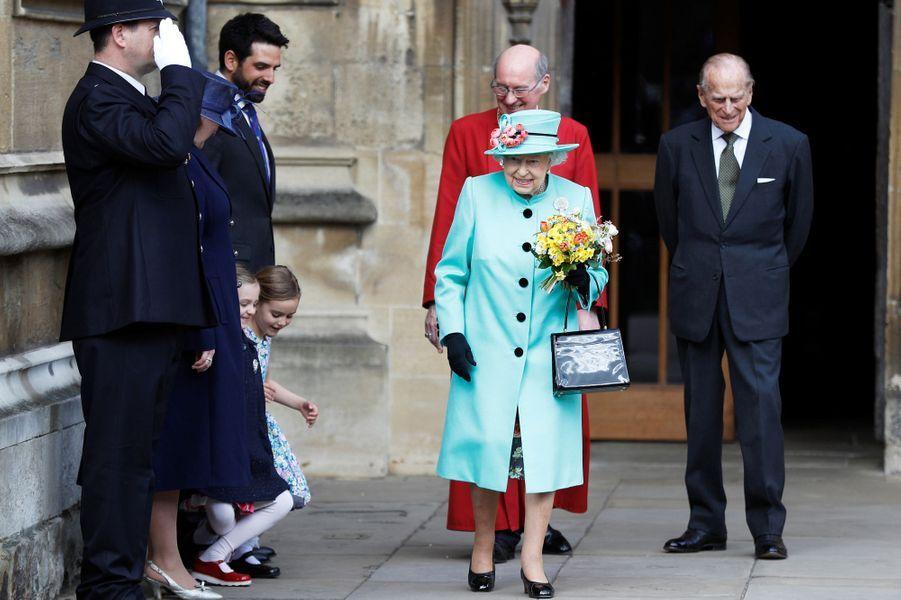 La reine Elizabeth II à Windsor, le 16 avril 2017.