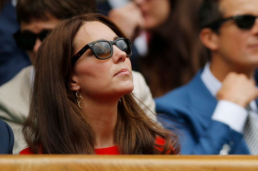 La duchesse Catherine de Cambridge à Wimbledon le 7 juillet 2015