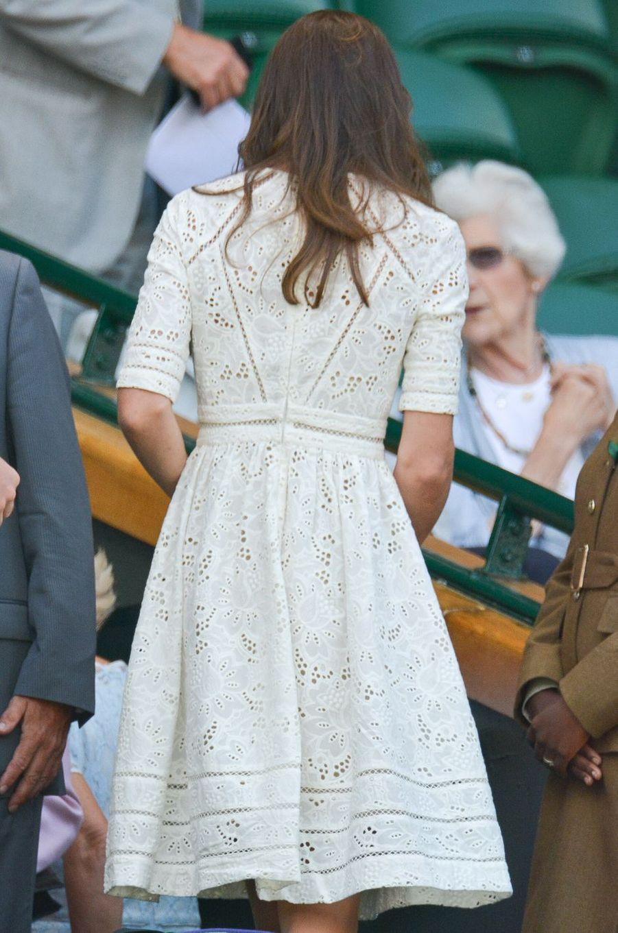 La duchesse Catherine de Cambridge à Wimbledon le 2 juillet 2014