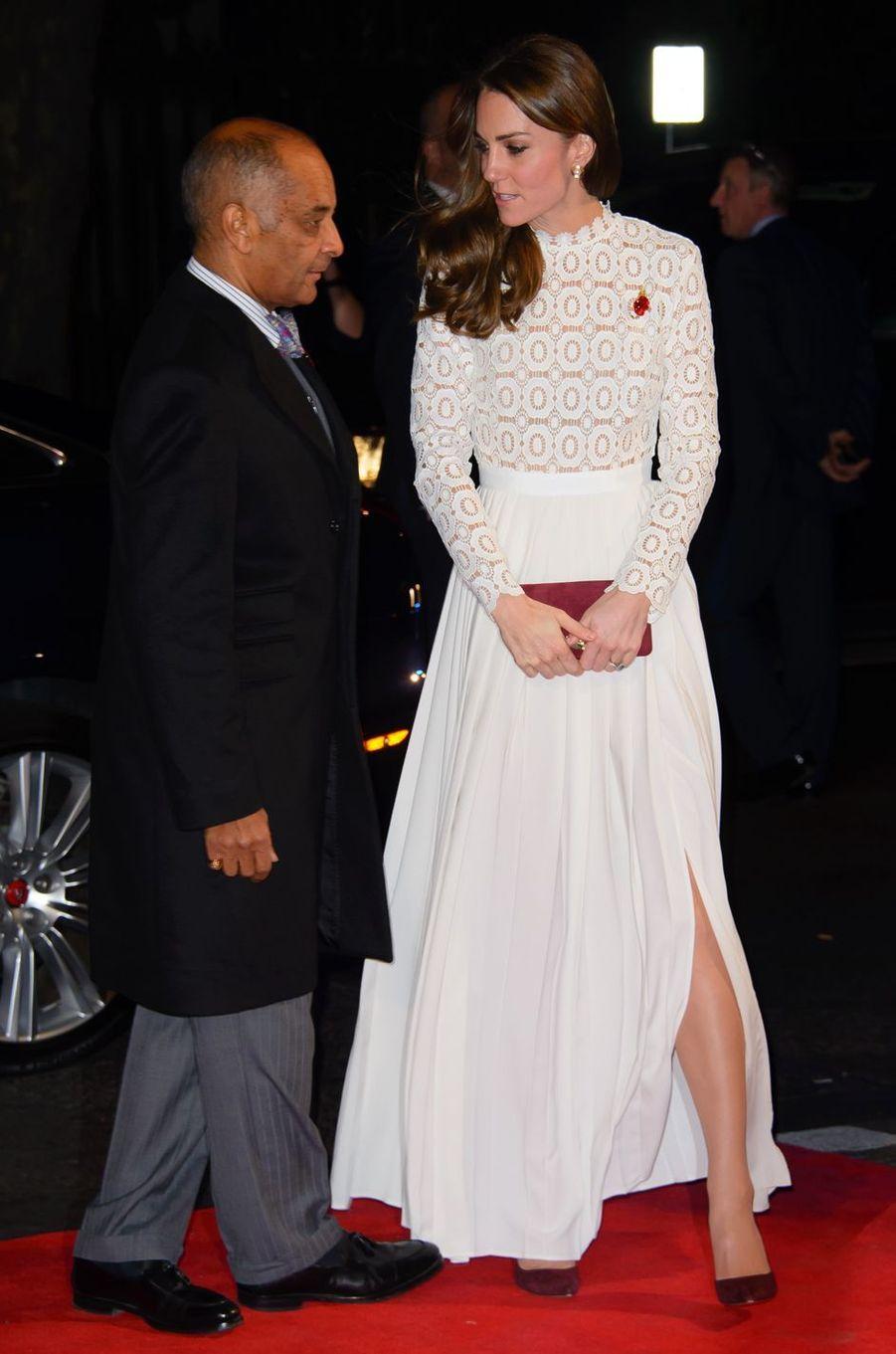 La duchesse Catherine de Cambridge à Londres le 4 novembre 2016