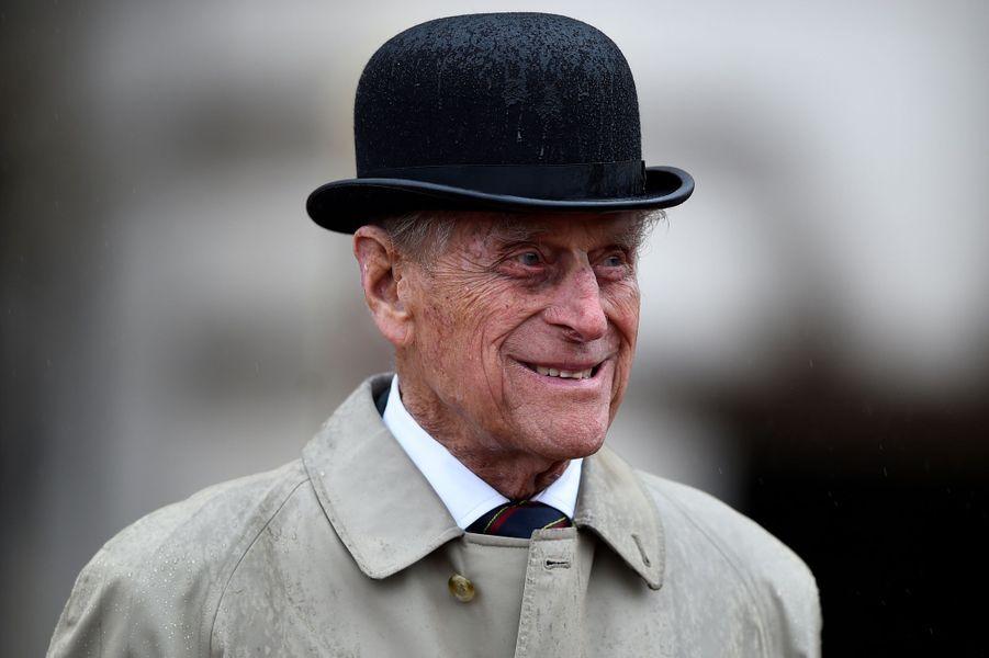 Le prince Philip devant Buckingham Palace à Londres le 2 aout 2017