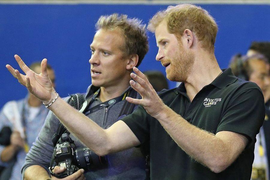 Chris Jackson et le prince Harry.