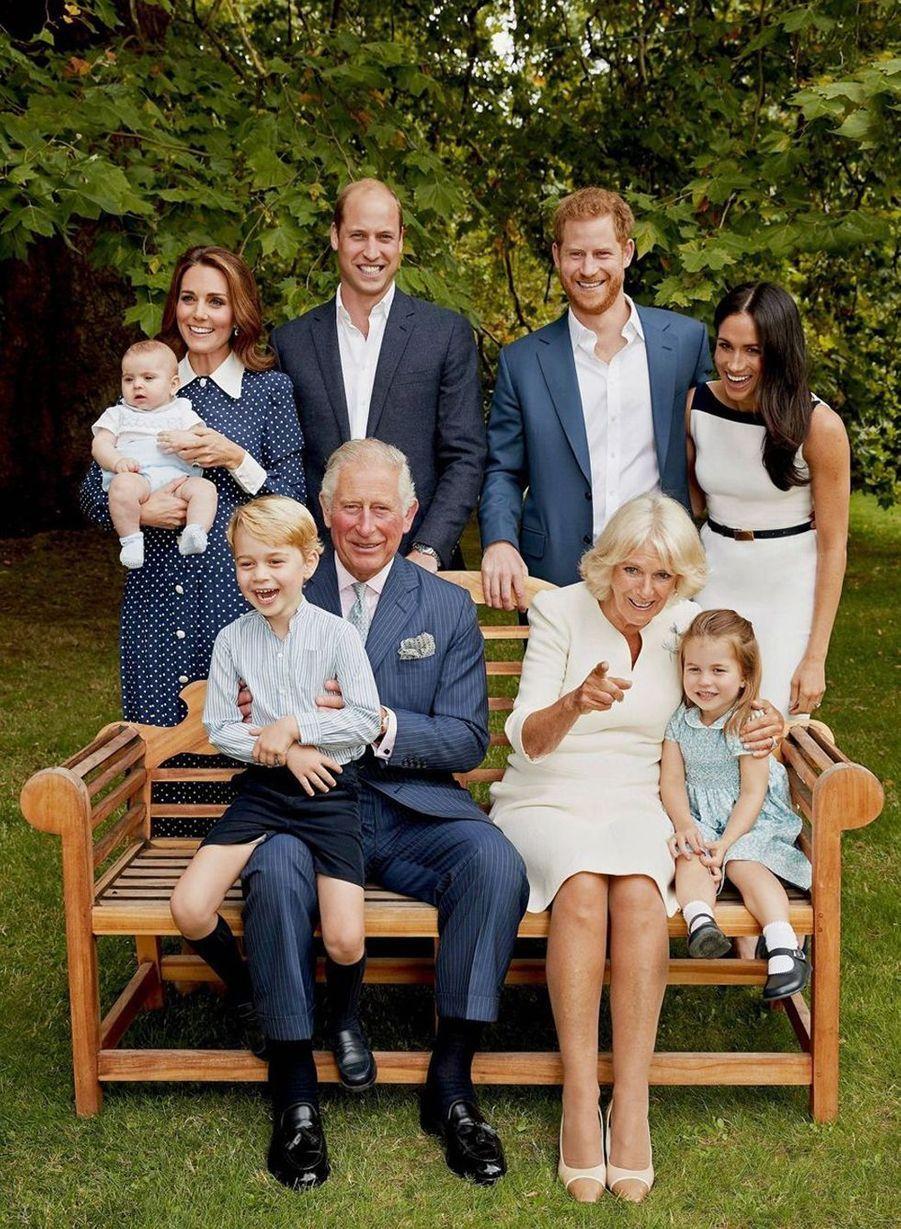 Le prince George de Cambridge en famille pour les 70 ans de son grand-père, le prince Charles. Photo capturée en septembre 2018.