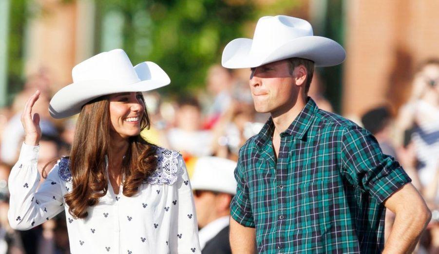 Pour leur dernier jour au Canada, le duc et la duchesse de Cambridge avaient assisté à du rodéo,au célèbre Calgary Stampede, qui se targue d'être le plus grand spectacle extérieur au monde.