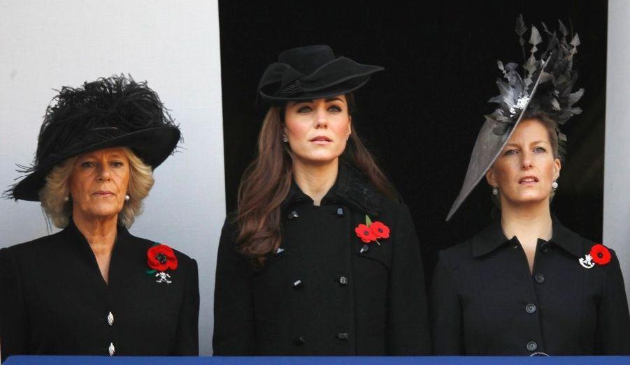 Kate en novembre dernier aux commémorations du Dimanche du Souvenir, en hommage aux anciens combattants des deux guerres Mondiales et des précédents conflits engageant les pays membres du Commonwealth.