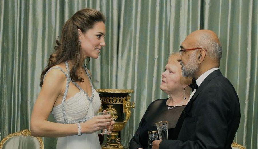 Pour la première fois fin octobre, Kate était seule l'hôtesse d'une réception, organisée à Clarence House. Une étape importante de son intégration dans la famille royale.