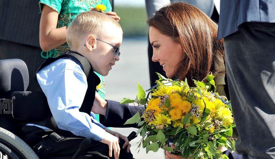 Rencontre avec un jeune garçon handicapé, lors du voyage au Canada.