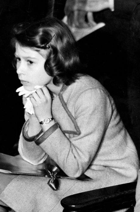 La princesse Elizabeth, le 6 avril 1937