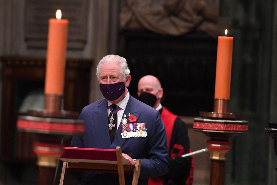 Le prince Charles à Londres, le 11 novembre 2020