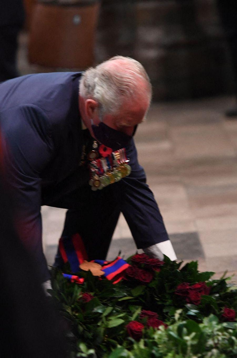 Le prince de Galles à Londres, le 11 novembre 2020