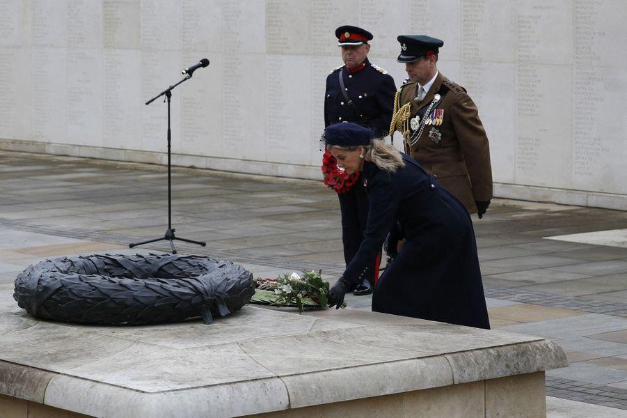 La comtesse Sophie de Wessex et le prince Edward, le 11 novembre 2020 à Alrewas