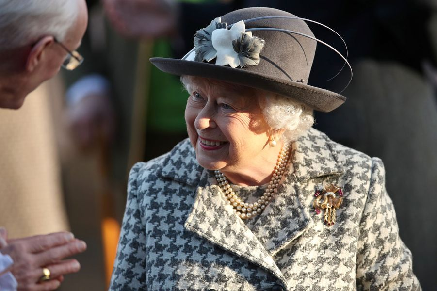 La reine Elizabeth II à la messe àHillington, dimanche 19 janvier