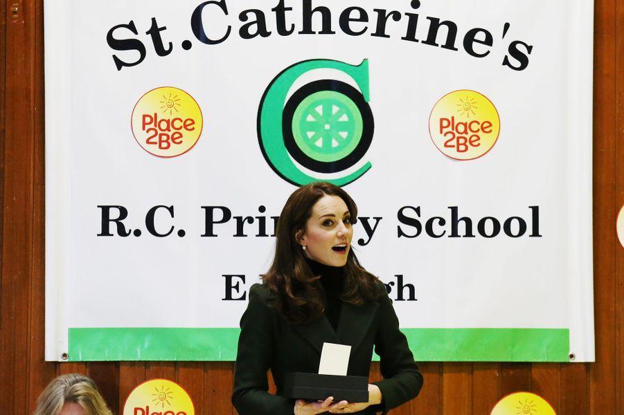 La duchesse Catherine de Cambridge à Edimbourg, le 24 février 2016