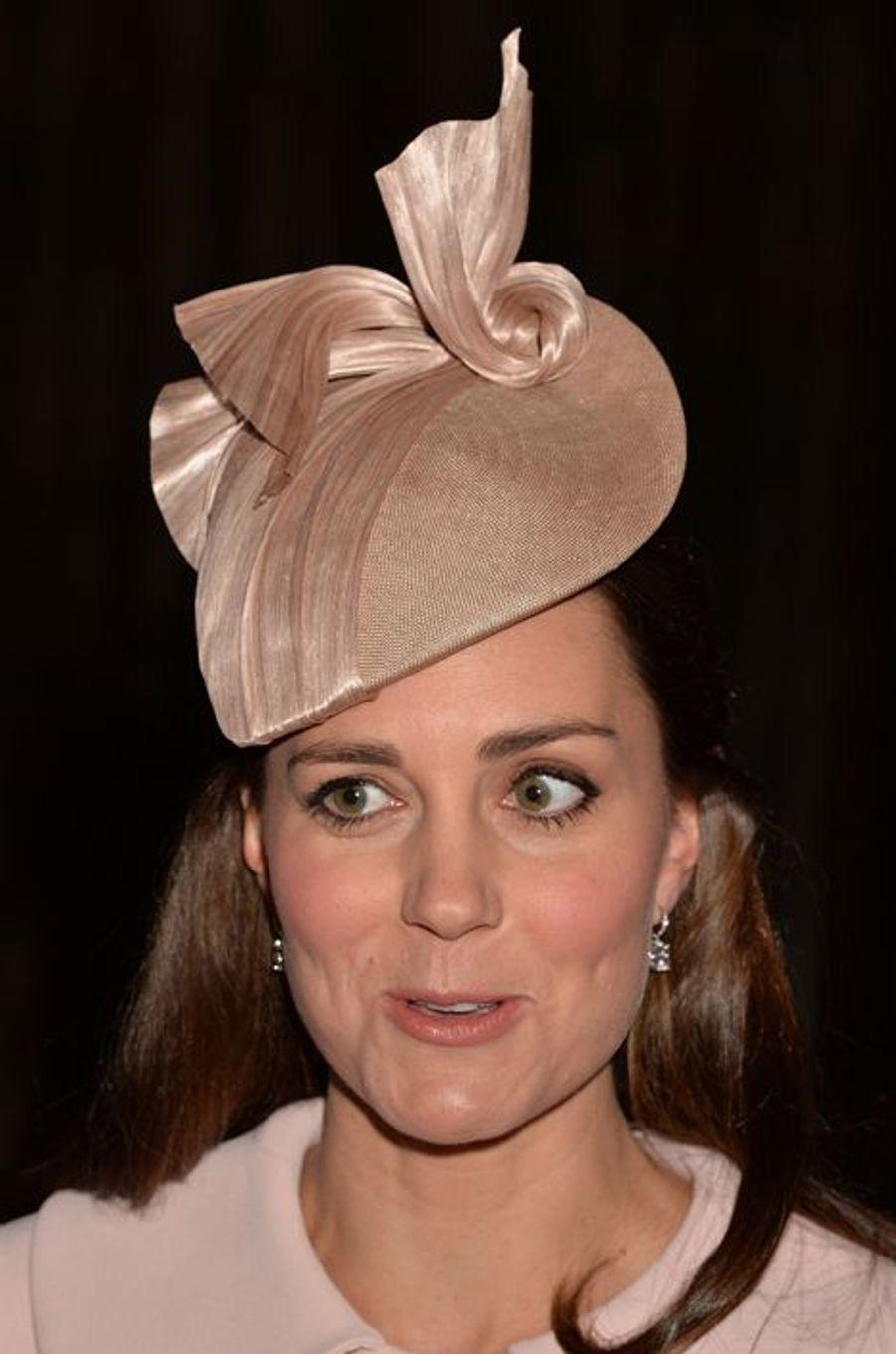 Kate à l'abbaye de Westminster à Londres, le 9 mars 2015