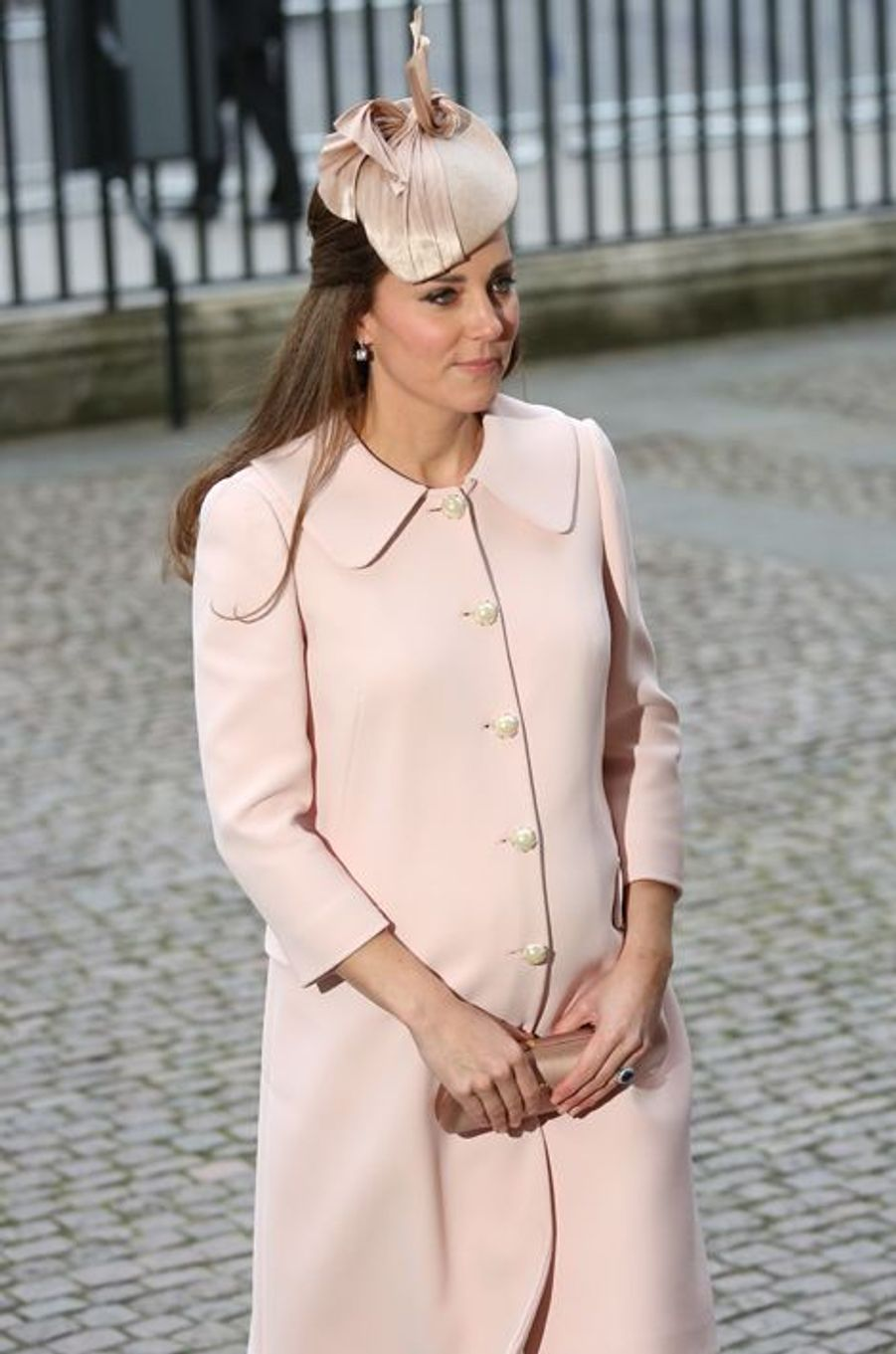 Kate arrive à l'abbaye de Westminster à Londres pour le Commonwealth Observance service, le 9 mars 2015