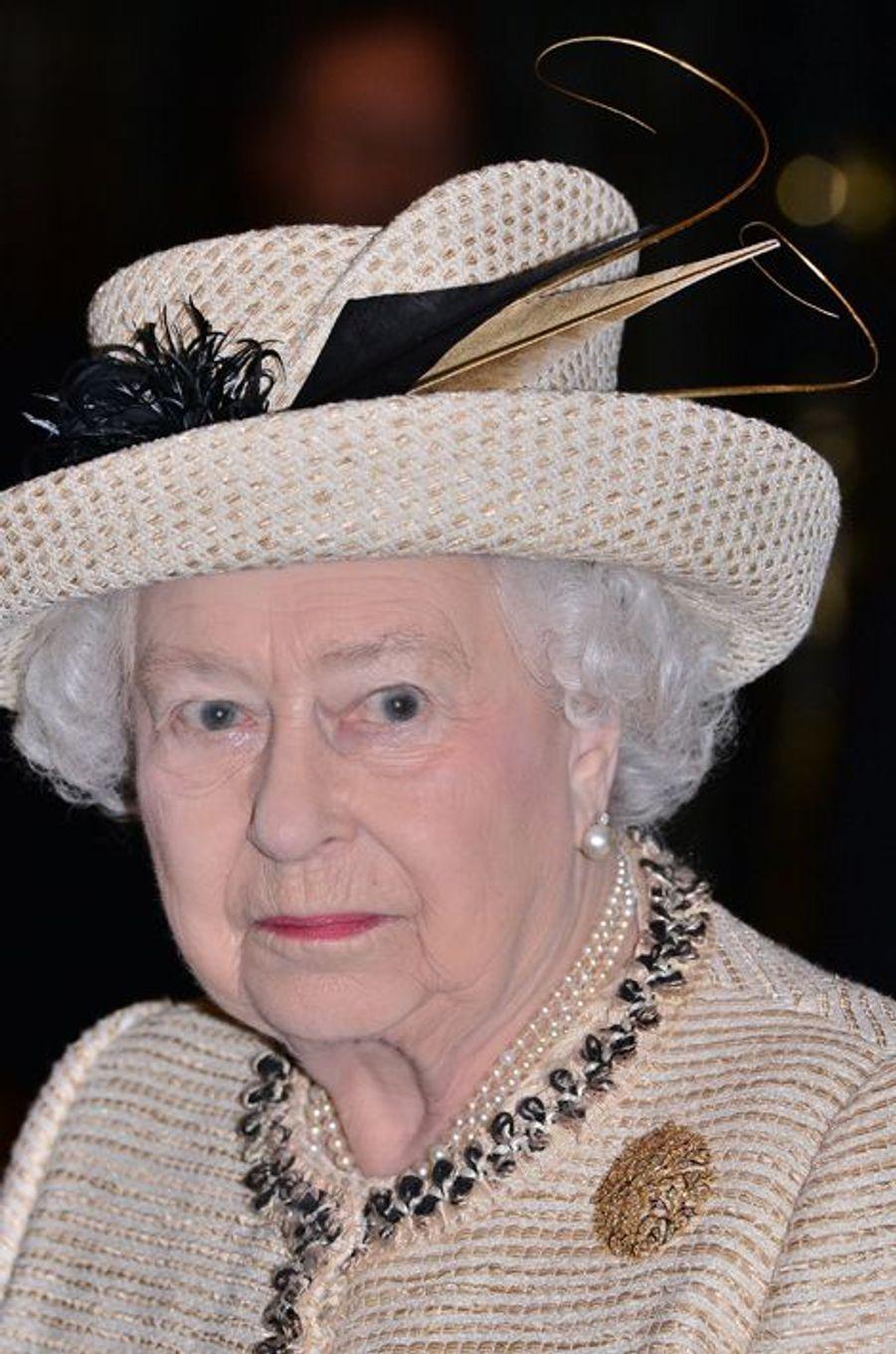 La reine Elizabeth II à l'abbaye de Westminster à Londres, le 9 mars 2015
