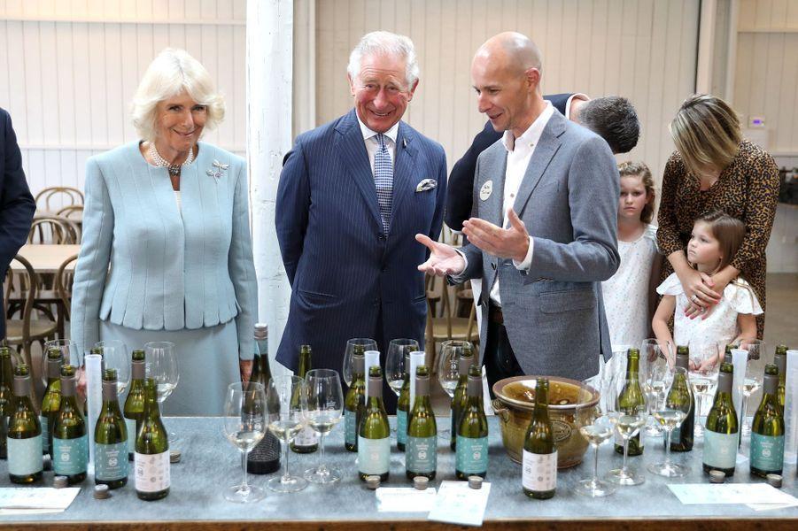 La duchesse de Cornouailles Camilla et le prince Charles en Nouvelle-Zélande, le 18 novembre 2019