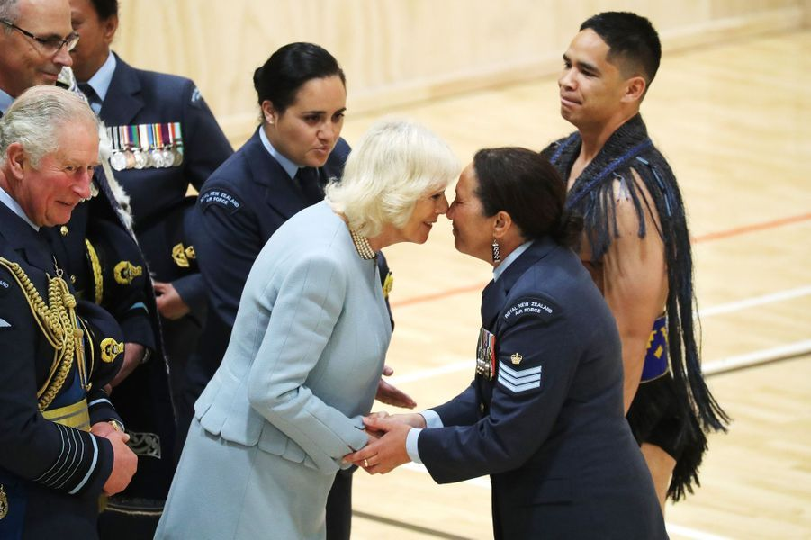 La duchesse de Cornouailles Camilla avec le prince Charles en Nouvelle-Zélande, le 18 novembre 2019