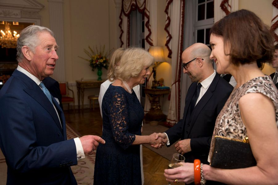 Camilla Parker-Bowles et le prince Charles à une réception à la résidence de l'ambassadeur des Etats-Unis à Londres, le 9 mars 2015