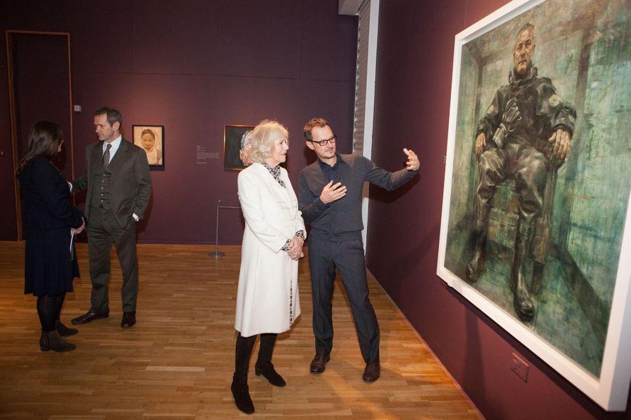 Camilla Parker-Bowles visite la Laing Art Gallery à Newcastle-upon-Tyne, le 28 janvier 2015