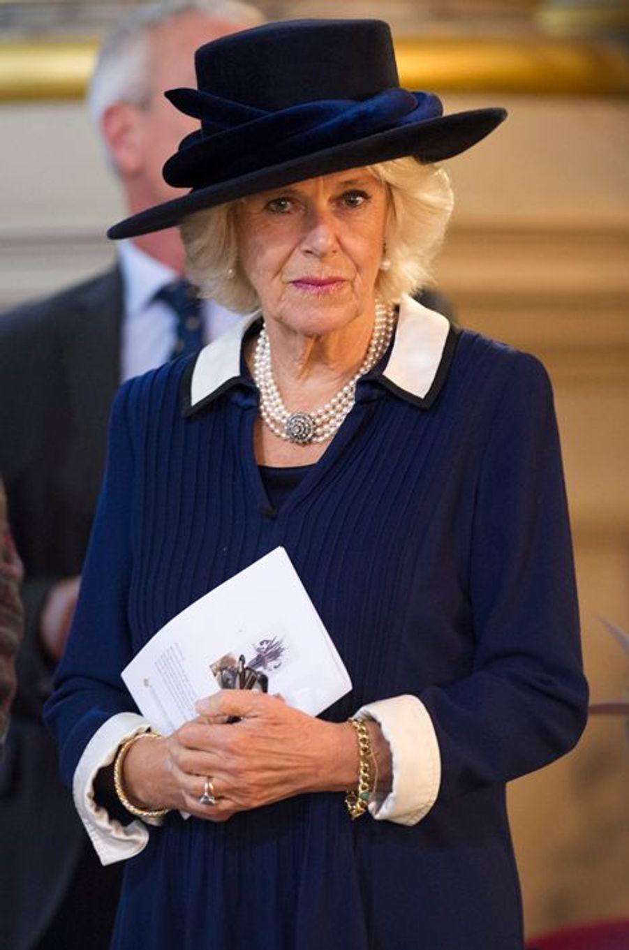 Camilla Parker-Bowles à la «British Food Fortnight» à Birmingham, le 20 octobre 2014
