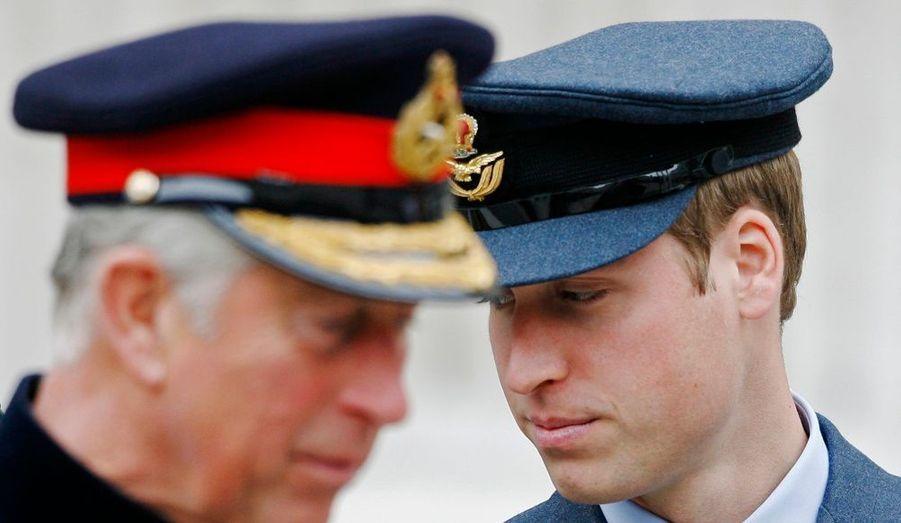 Le Prince Williams et son père Charles