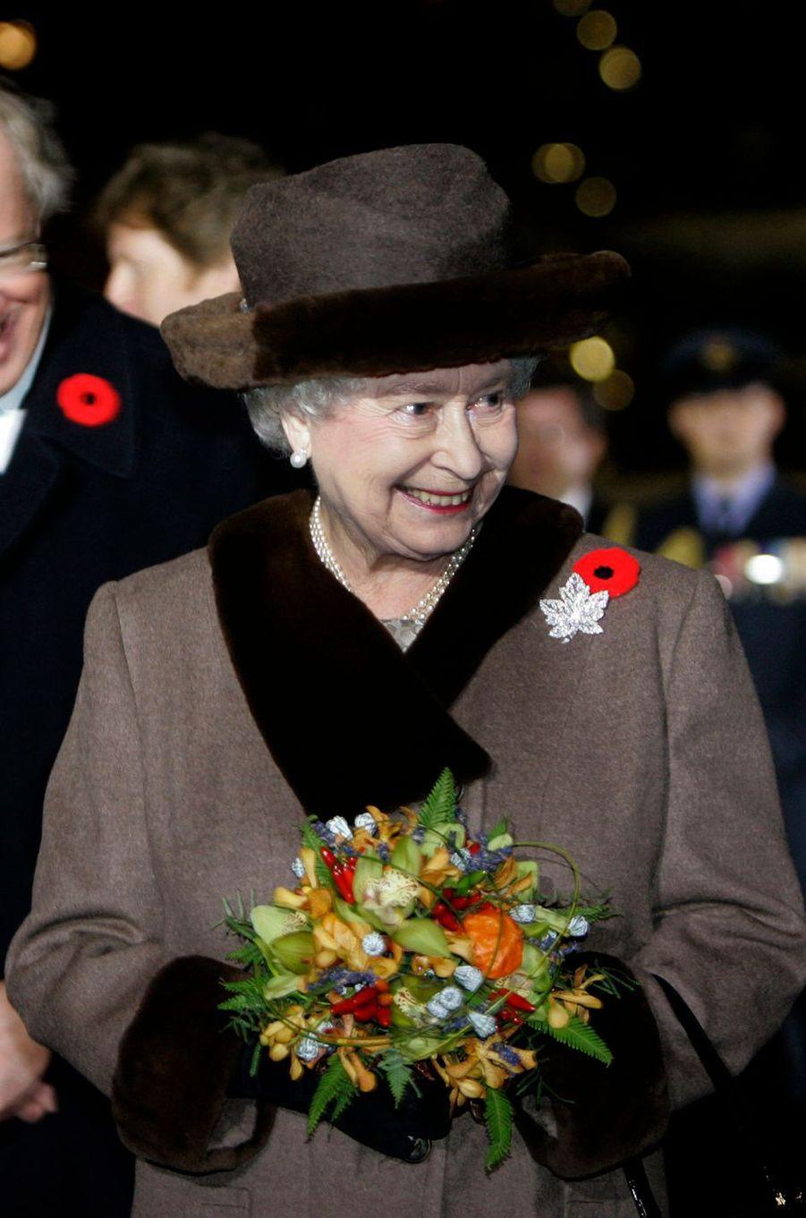 La reine Elizabeth II, le 4 novembre 2008