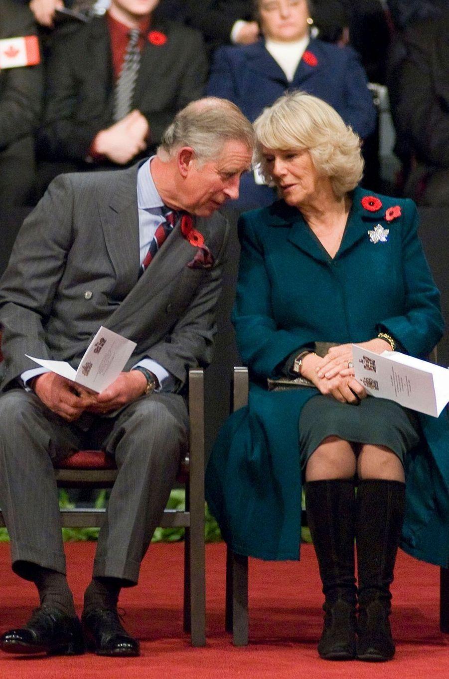 La duchesse de Cornouailles Camilla, le 2 novembre 2009