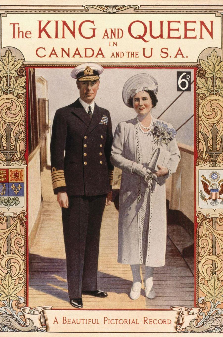 Document évoquant la première visite au Canada et aux Etats-Unis en 1939 du roi George VI et de son épouse la reine consort Elizabeth (future Queen Mum)