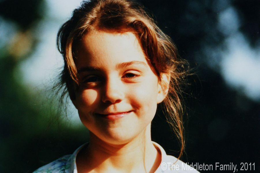 Kate Middleton, en 1988, à 5 ans.