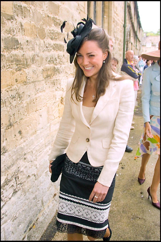 Kate Middleton en 2005, au mariage d'Hugh van Cutsem et Rose Astor